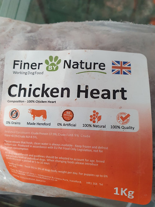 Copy of Finer By Nature Chicken Heart   Chunky 1kg