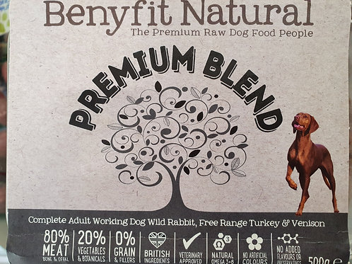Benyfit Premium Blend Free Range Turkey & Vension 500g