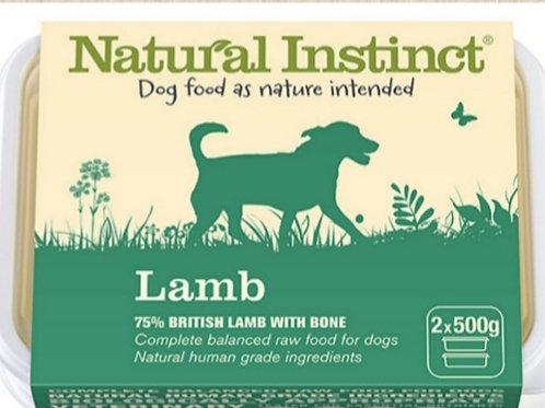 Natural Instinct Lamb 2 x 500g Raw Dog Food
