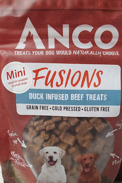 Anco Minis Fusions Ostrich infused Beef Treats 120g