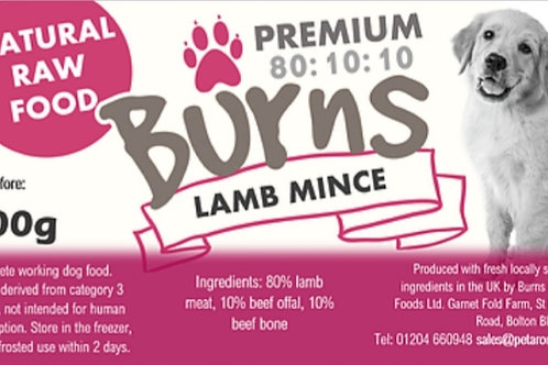 Burns Lamb Mince Complete 400g Roll
