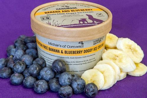 Michies of Cornwall Handmade Banana & Blueberry Goats Milk Ice Cream 12