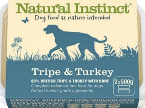 Natural Instinct Tripe & Turkey 2 x 500g Raw Dog Food