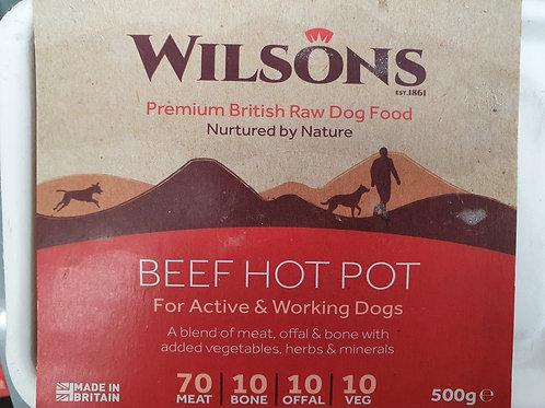 Wilsons Beef Hot Pot  70/10/10/10  500g
