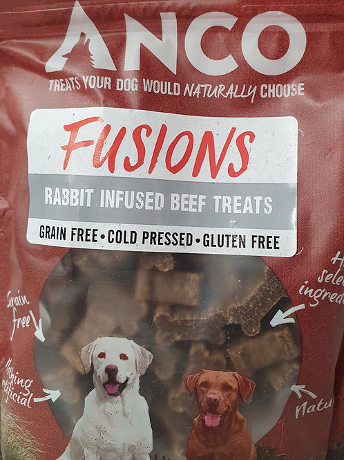 Anco Fusion Rabbit infused Beef Treats 100g