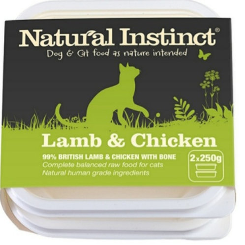 Natural Instinct lamb & Chicken 2 x 500g Raw Cat Food