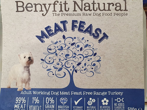 Benyfit Meat Feast Free Range Turkey 500g