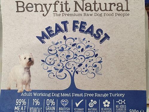 Benyfit Meat Feast Free Range Turkey 500g