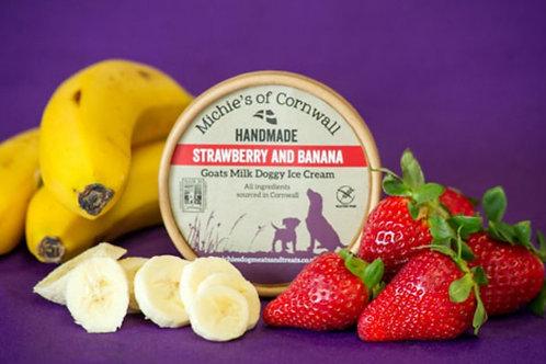 Michies of Cornwall Handmade Strawberry & Banana Goats Milk Ice Cream 125g
