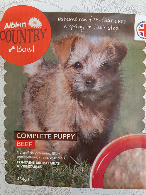 Albion Complete Puppy Food Beef 454g Packs