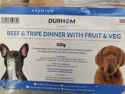 Daf Dinners Beef & Tripe with Fruit & Veg500g