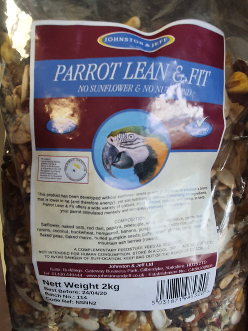 Parrot Food Johnston & Jeff lean & fit 2kg
