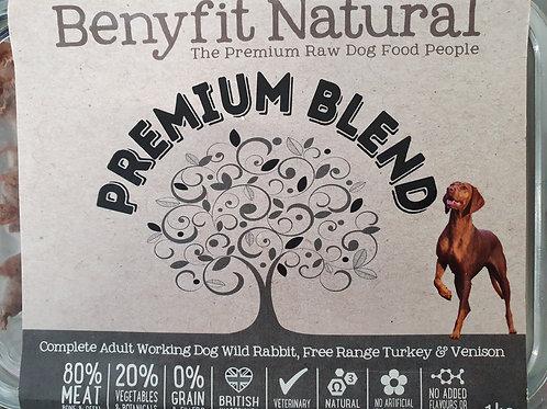 Benyfit Premium Blend Complete Wild Rabbit Free range Turkey & Vension 1kg