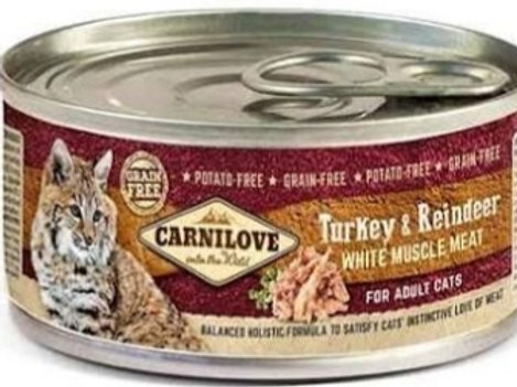 Carnilove Turkey & Reindeer with muscle meat 100g