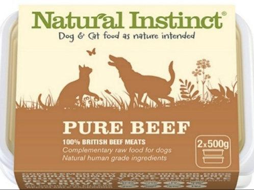 Natural Instinct Pure Range Beef 2 x 500g Raw Dog /Cat Food