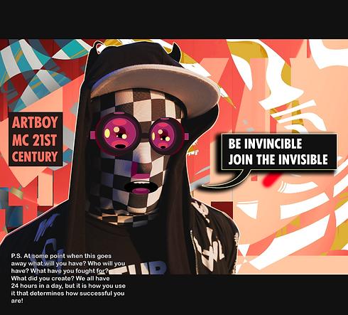 Artboy Invisible Graphic design work MC artboy Abson modern graphic cgi cinema 4D blender poète belge artist invisible