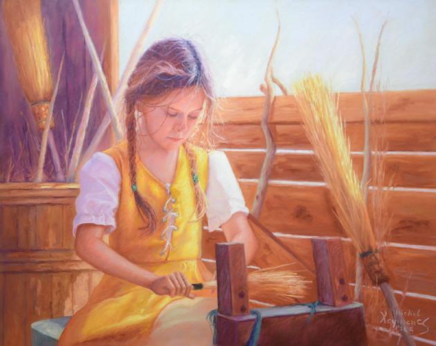 La jeune apprentie, pastel, disponible
