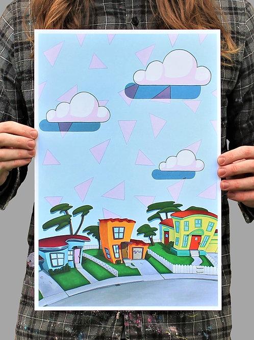 """12""""x18"""" """"Rocko's Block"""" Fine Art Print"""
