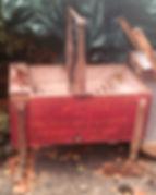 Red Wooden Washing Machine