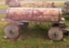 Wagon with Wood Wheels Side View