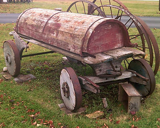 Wagon with Wood Wheels