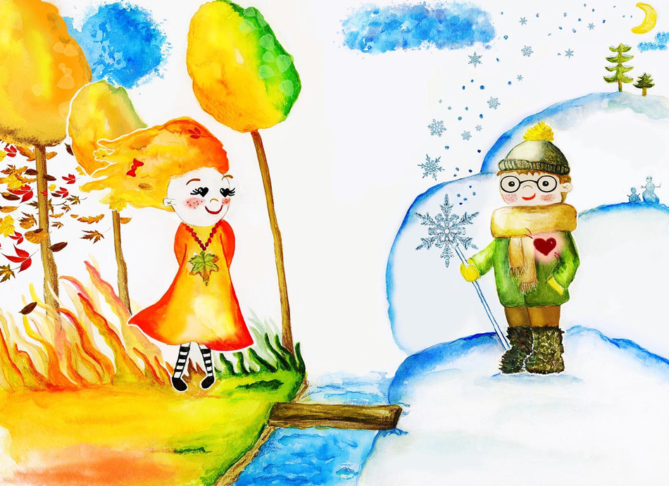 Miss Autumn and Mr.Winter