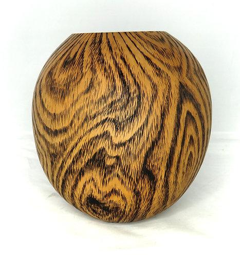 Faux wood gourd vase