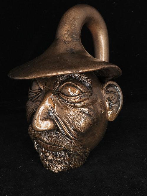 Bronze Wizard Head Gourd Sculpture