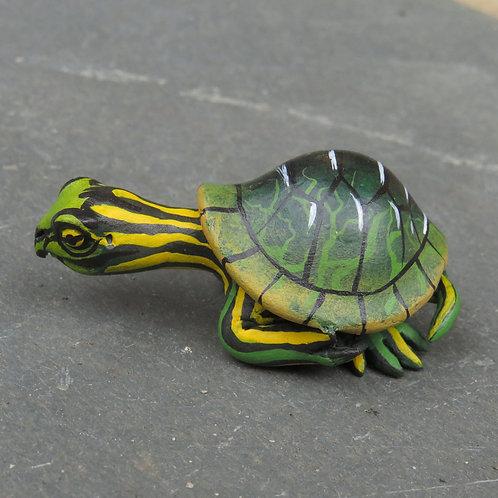 Mini Gourd Turtle #M3-6, Alabama Map Turtle