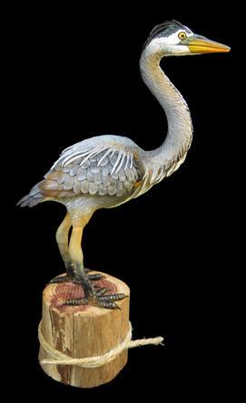 Miniature Great Blue Heron