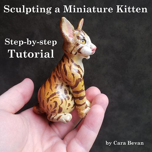 Miniature Gourd Kitten Sculpting Tutorial