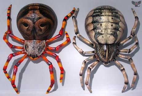 Wall hanging garden spiders