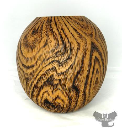 Faux Wood Vase