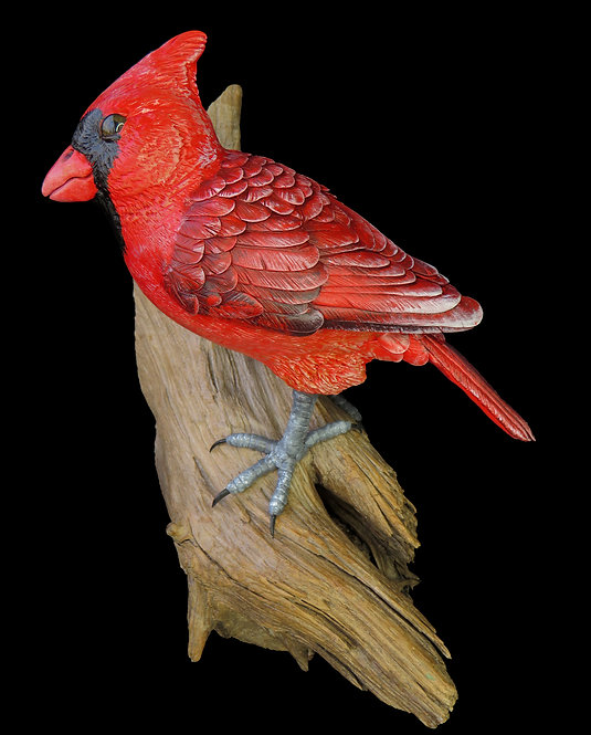 Cardinal wall-hanging art sculpture