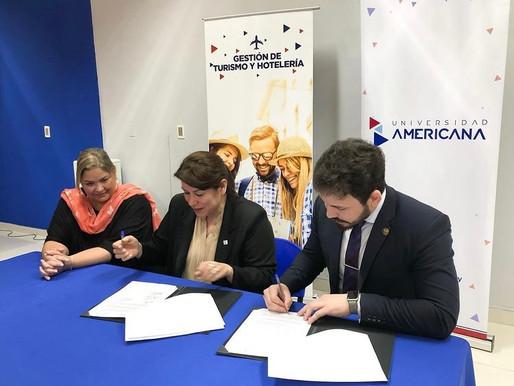 La Universidad Americana y el Hotel Danieri concretan alianza