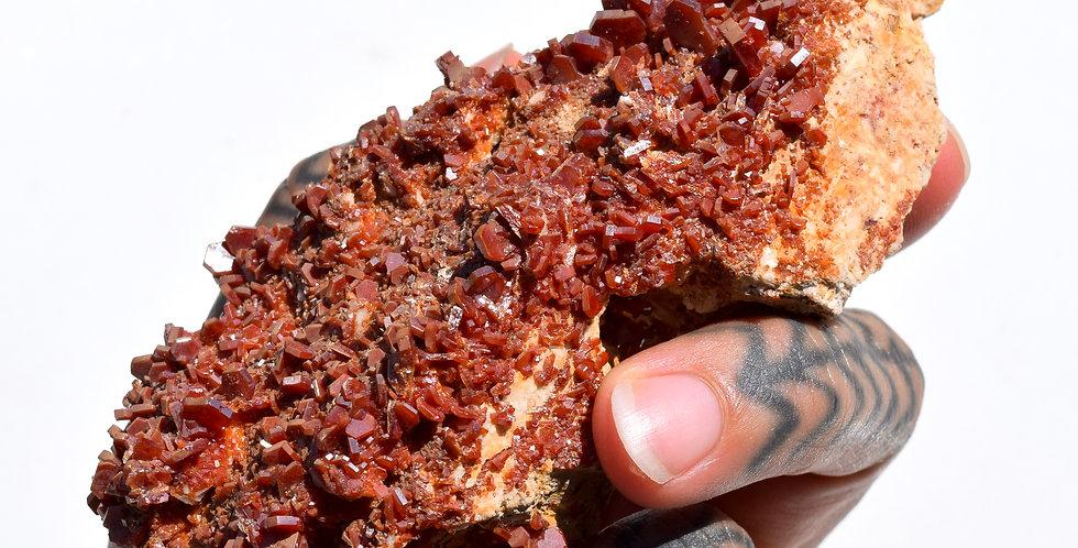 Vanadinite Crystal Cluster