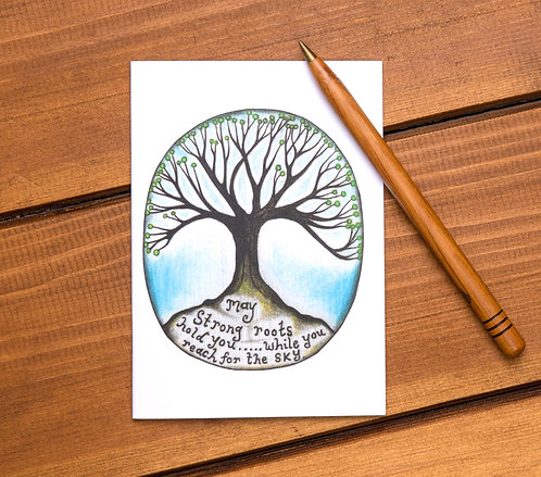 may strong roots hold you personal growth art notebook
