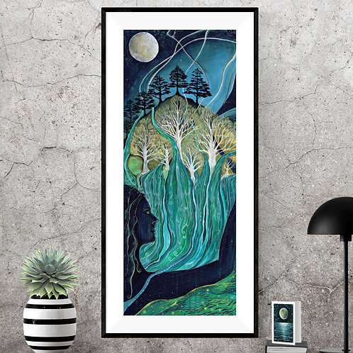 Water and stardust, we are all stardust, connected to nature art,  northern ireland artist