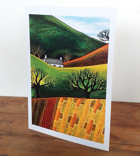 Across Blanket Fields  - A6 card