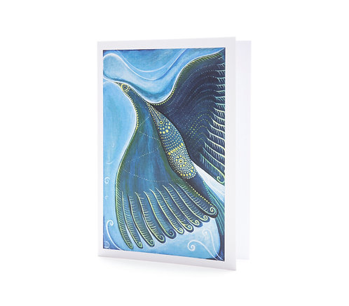 flight path magical bird dot work bird lover gift art greeting card hannah dorman
