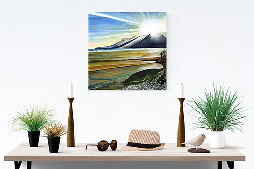 Mourne mountains and Murlough beach painting Northern Ireland