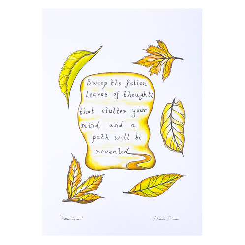 mindfulness meditation buddhism inspirational quote nature calm mind art print hannah dorman art