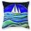 star sailing sailor gift sail boat waves stars at sea cushion