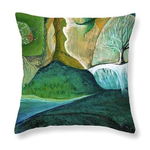 connected to nature spiritual meditation mindfulness boho interior cushion