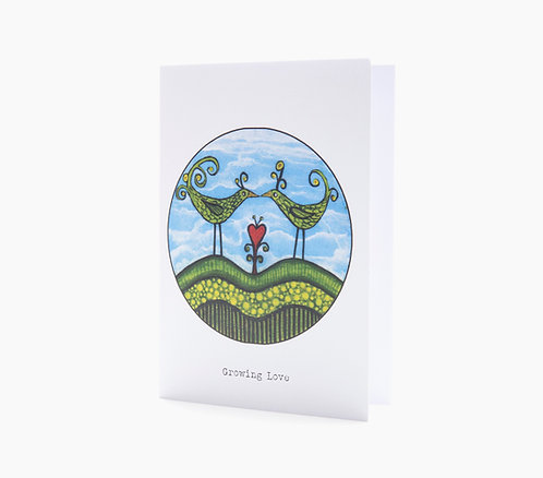 growing love anniverary love valentines day art greeting card hannah dorman