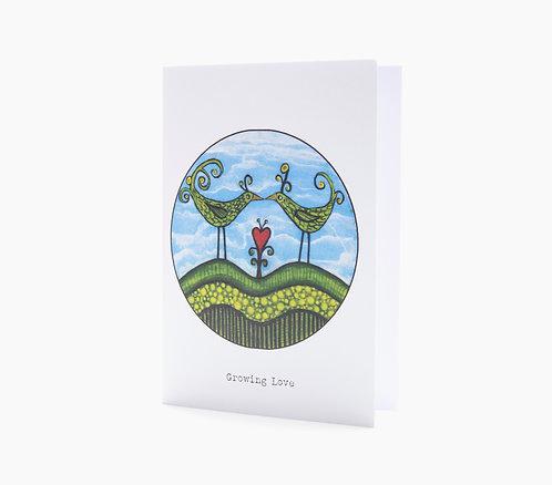 growing love anniverary love valentines day art greeting card hannah dorman