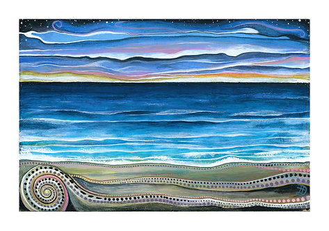 Sunset On A Distant Shore~ Original painting
