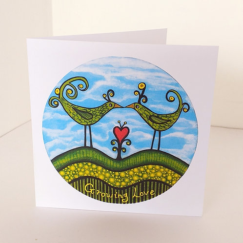 Growing Love - square card