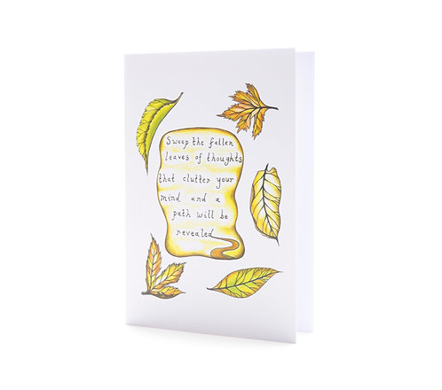 mindfulness meditation buddhism inspirational quote nature calm mind art greeting card hannah dorman art