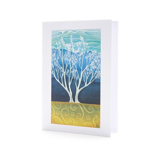 spring blossom tree spring easter card art greeting hannah dorman artists